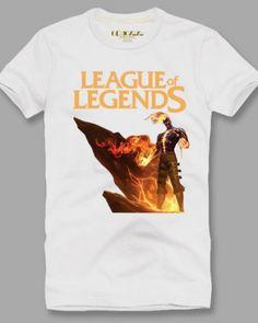 League of Legends t shirt for men plus size hero Brand short sleeve-