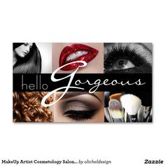 MakeUp Artist Cosmetology Salon Beauty Business Business Card