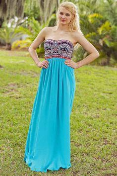 Dreamland Strapless Maxi Dress #love - JC's Boutique - www.SHOPJCB.com