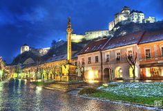File:Trencin town, Slovakia - HDR photo, wish I knew who the photographer was, would be so happy to give credit, one of the most beautiful photos I've seen. Photography Sites, World Photography, Outdoor Photography, Fotografia Hdr, Heart Of Europe, Exotic Places, Central Europe, Cool Pictures, Amazing Photos