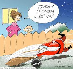 """Komiks """"Prosiłeś Mikołaja o pieska?"""" (źródło: http://kuku.pl)"""