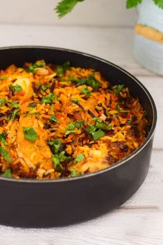 Fish Biryani cooked the South African way. An aromatic layered dish made with fish, rice, spice and fresh herbs. How To Double A Recipe, Recipe For 4, Fish Biryani, Yellow Food Coloring, Yellow Foods, Biryani Recipe, Oven Baked Chicken, Roma Tomatoes, Recipe Please