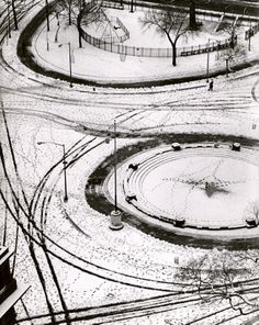 André Kertész (American, b. Hungary, 1894-1985) Washington Square, New York, February 24, 1966