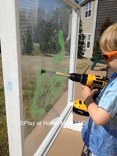 Painting with a power drill