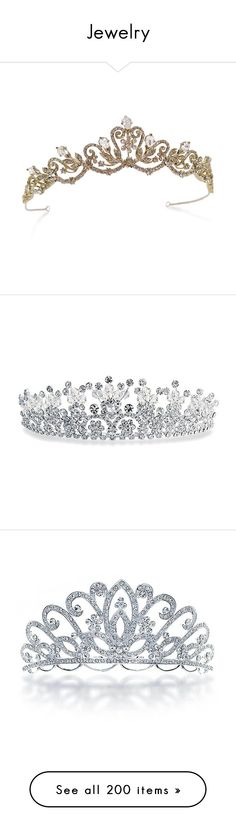 """Jewelry"" by rhyskaba ❤ liked on Polyvore featuring accessories, hair accessories, tiara, crowns, jewelry, swarovski crystal hair accessories, tiara crown, swarovski crystal tiara, crown tiara and tiaras"