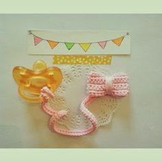 BubblesBeforeBed : Crochet for Baby Crochet Bebe, Knit Or Crochet, Crochet Things, Holiday Crochet Patterns, Pacifier Holder, Teething Toys, Binky, Baby Toys, Crochet Earrings