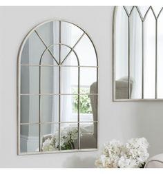 Kellsi window effect cream mirror 90 x 60cm - oversized window style mirror. Shop > http://www.exclusivemirrors.co.uk/white-and-cream-mirrors/kellsi-window-effect-cream-mirror-90-x-60-cm?cPath=24&