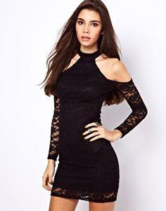 ASOS Cold Shoulder Lace Dress. #ShopSimple #Fashion