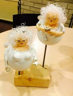 Making Paper Mache, Paper Mache Crafts, Plus Size Art, Advent, Ceramic Jewelry, Paper Clay, Air Dry Clay, Christmas Angels, Gourds