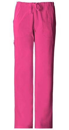Cherokee Perfect Stretch Drawstring cargo pant. Style Number: 1010 Color: Carmine Pink (CPPS) Also available in multiple colors and tall and petite at statapparel.com!