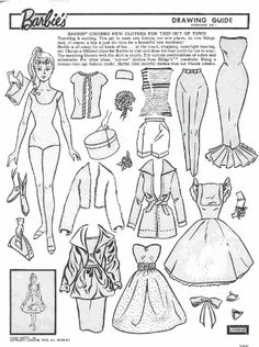 barbie paper doll and coloring book missmissypaperdollsblogspotcom - Paper Doll Clothes Coloring Pages