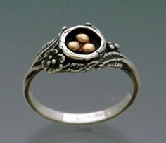 Eggs in Nest Ring Bimetal Bronze and by SheppardHillDesigns, via Etsy.