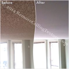 Ceilings transformed from textured to smooth at a Vancouver condo. #TexturedCeilings #CeilingTextureRemoval #SmoothCeilings #PopcornCeilingRemoval #PopcornCeilings #CeilingRenovations #Vancouver