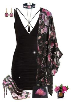 """""""🌹 Little Black Dress 🌹"""" by blondemommy ❤ liked on Polyvore featuring Côte Noire, Schutz, John Hardy, Christopher Kane and BaubleBar"""