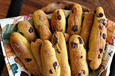 Pumpkin Cranberry Breadsticks  - CountryLiving.com