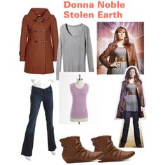 Donna noble stolen earth by clararycbar, via Polyvore