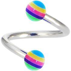 $1.99 SHERBET SURPRISE Stripe Spiral Twister Belly Ring