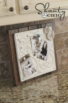 Making these with old barn wood and pieces of tin roof - magnetic memo board - love them!