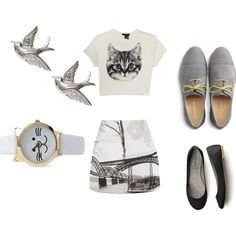 """""""cats don't eat birds."""" by beoriginal1729 on Polyvore"""