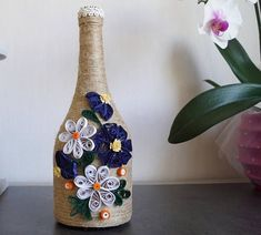 bottle decor wine bottle decor home decor gift decorated #DIYHomeDecorWineBottles