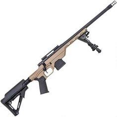 "Mossberg MVP LC Bolt Action Rifle 5.56 NATO 16.25"" Medium Bull Threaded Barrel 10 Rounds Tan Aluminum MDT LSS Light Chassis Adjustable Stock Matte Blued 27773 - 015813277730"