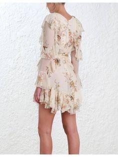 Zimmermann Folly-Flutter-Dress - 2720dfol-crfl-cream-bird-floral