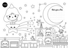 Star Coloring Page by Luli Bunny