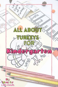 This fun Thanksgiving Turkey activity is perfect for teaching students the history of Thanksgiving! They will explore science, writing, and reading all about Thanksgiving and Turkeys in this fun, hands-on, interactive, Flippy Flap Lapbook! , From labeling, compare and contrast and more, this Flap Lapbook is ideal for PreK, Kindergarten, and First grade students. #thanksgiving #flipbooks #elementary