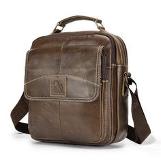 ea1d3e156b Men s Genuine Leather Shoulder Messenger Bags Male Tote Vintage small  Crossbody Bags men Handbag Messenger Bag