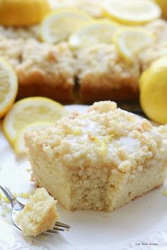 Greek Yogurt Lemon Coffee Cake - A bright & flavorful lightened up lemon coffee cake with a buttery streusel topping & sweet & tangy lemon glaze..jpg