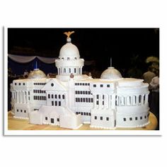 The Capitol Cake					Bakery: The Cake Diva, Jackson, MS Cake Challenge: Mississippi's Gubernatorial Inauguration. This scale model of the Mississippi capitol building was made entirely of sugar and stood three feet wide and over 20 inches high.