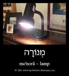 me'norâ = lamp in Hebrew