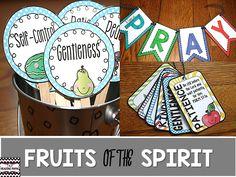 FRUITS OF THE SPIRIT https://www.teacherspayteachers.com/Product/Fruits-of-the-Spirit-2687665