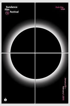 This limited-edition poster is a set of four prints that can be put together to make one large poster of the 2015 Sundance Film Festival's eclipse symbol. Each of the four prints is 12 inches by 18 in
