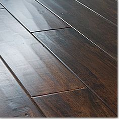 BuildDirect: Engineered Hardwood Floors Acacia Handscraped Walnut 4 These are a nice warm and inviting wood tone! Wood Floor Texture, Hardwood Floor Colors, Light Hardwood Floors, Dark Hardwood, Engineered Hardwood Flooring, Hickory Flooring, Dark Laminate Floors, Acacia, Flooring Options