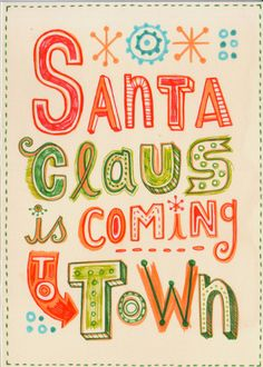 Hand lettered Christmas cards by Linzie Hunter, via Behance