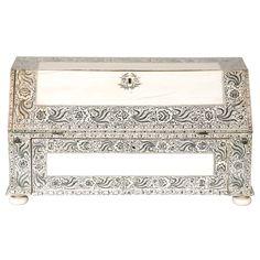 Vizagapatam Ivory Veneered Miniature Bureau