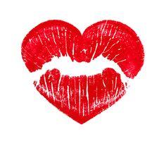 geluk: hart Heart Lips