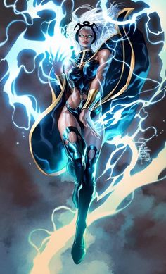 Storm is a fictional Marvel Comics comic book character, Ororo Monroe's alter ego, and member of the X-Men. His first appearance was in Giant-Size Marvel Dc Comics, Archie Comics, All Marvel Heroes, Rogue Comics, Comic Book Characters, Marvel Characters, Comic Books Art, Comic Art, Marvel Comic Character