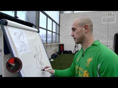Pepe Reina attempts to draw a Liverbird in 60 seconds?