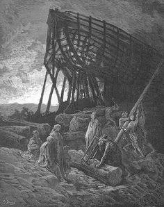 Began to build a vessel of huge bulk Artist: Gustave Dore