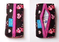 Zakdoekhoesje - Tutorial by So Filles Sewing Hacks, Sewing Tutorials, Sewing Patterns, Fabric Bags, Fabric Scraps, Black Handbags, Leather Handbags, Quilted Bag, Small Bags