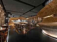 "Sculptural timber structure for ""RAW restaurant"" in taipei: http://www.playmagazine.info/sculptural-timber-structure-for-raw-restaurant-in-taipei/"