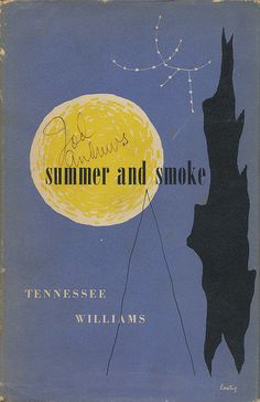 An Alvin Lustig dust jacket design. Summer And Smoke by Tennessee Williams. New Directions, 1948. First Edition.