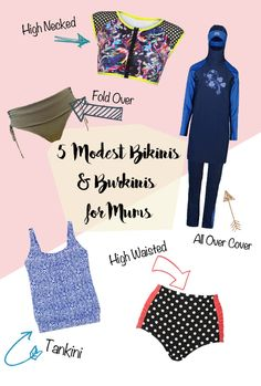 5 Modest Bikinis and Burkinis for Mums - swimwear doesn't have to be too revealing!