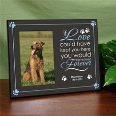 Pet Remembrance Frame | Personalized Pet Remembrance Frame