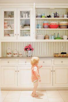 cabinets and backsplash
