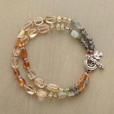 "❥ Sunny Side Up Bracelet~ I should have started a new board called, ""Finishing Touches on Multi Strand Bracelets"""