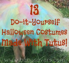 Instructions for 13 DIY Halloween Costumes Made with Tutus: Angry Birds, Cowgirls, Peacocks, Pumpkins and more!