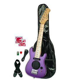 Another great find on #zulily! Purple Built-In Speaker 30'' Kid's Electric Guitar #zulilyfinds